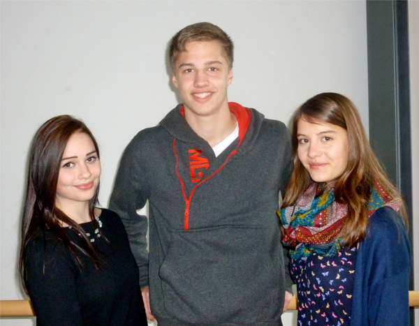 Unsere Tutorensprecher: Elisabeth Eschenbacher, Michael Achneck und Eva Mardus