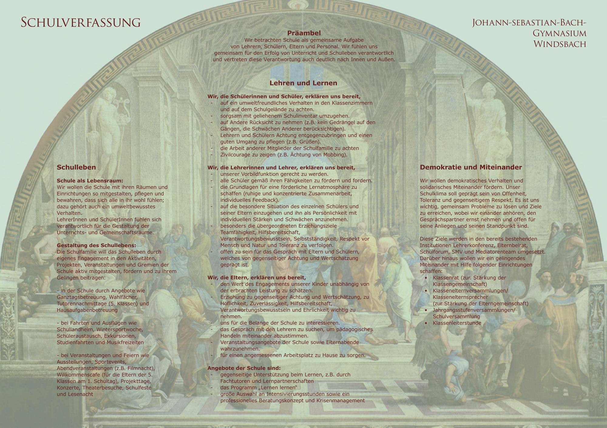 Schulverfassung des Johann-Sebastian-Bach-Gymnasiums Windsbach